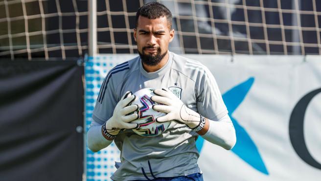 Robert Sánchez, portero de la selección española