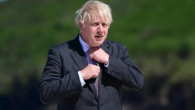 El primer ministro británico, Boris Johnson, en la cumbre del G7 en Cornualles.