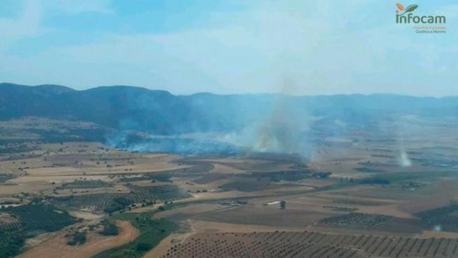 Controlado el incendio forestal declarado este viernes en Puertollano