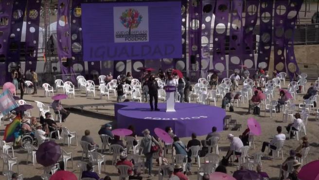 La asamblea de Podemos de este sábado.