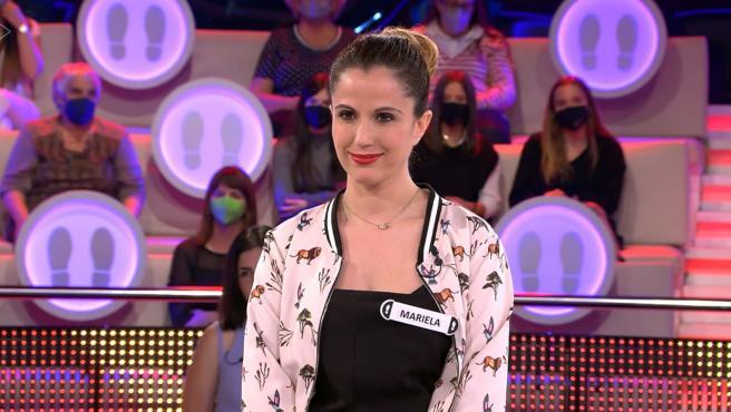 La concursante Mariela Blanco en el último programa de '¡Ahora caigo!'.