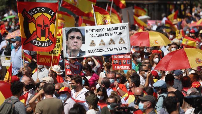 Imagen de uno de los grupos participantes en la protesta en Colón.