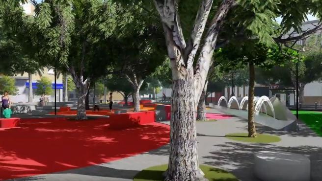 Recreación de la futura avenida de la Cruz Roja y su entorno.