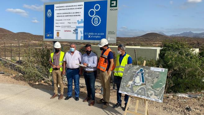 Firmado el replanteo de las obras de la depuradora de San Miguel (Tenerife), con una inversión de casi 2,2 millones