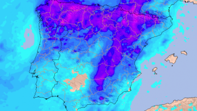 Previsión de precipitación acumulada hasta el 18 de junio de 2021, según modelos HRES ECMWF.