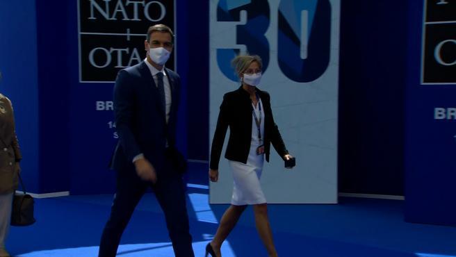 Sánchez llega a la cumbre de líderes de la OTAN
