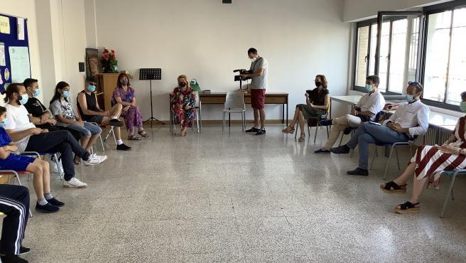 Santos valora el arranque en Tudela del Programa Somos, que atiende actualmente a dos familias sirias