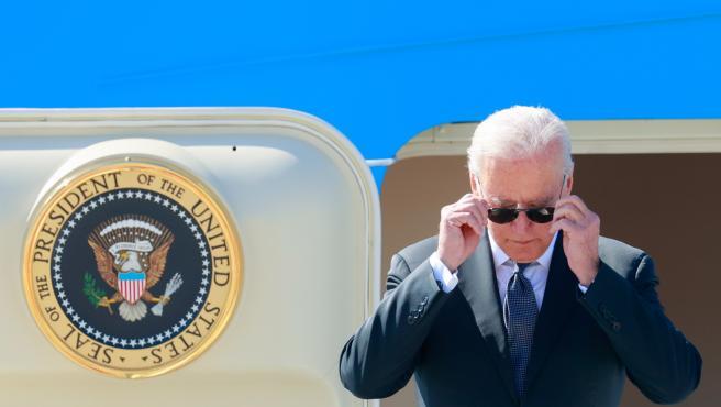 Joe Biden, a su llegada a Ginebra para la reunión con Putin.