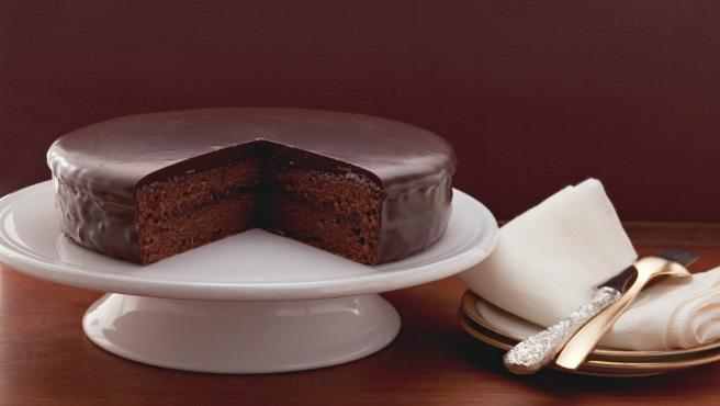 Imagen de una tarta de chocolate.