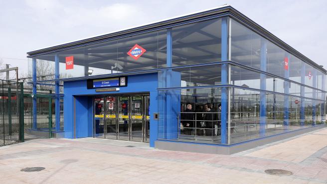 La ampliación de la L3 conectará la estación de El Casar (Getafe), en la imagen, con la de Villaverde Alto.