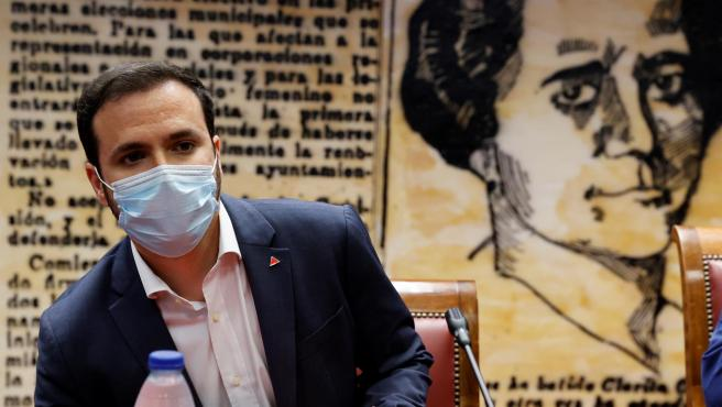 El ministro de Consumo, Alberto Garzón, este jueves en el Senado.