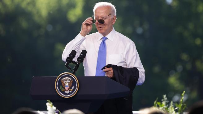 El presidente de EE UU, Joe Biden, durante una rueda de prensa tras su encuentro con el presidente de Rusia, Vladimir Putin, en Ginebra, Suiza.