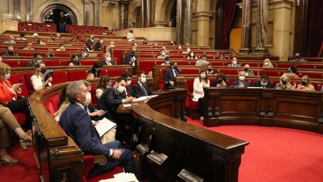 El Parlament durante la sesión plenaria de este jueves.