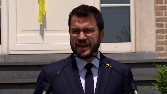 """Aragonès reitera que los indultos no son la solución de un problema """"profundo"""""""