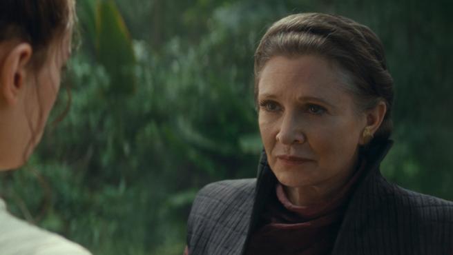 Carrie Fisher en 'El ascenso de Skywalker'