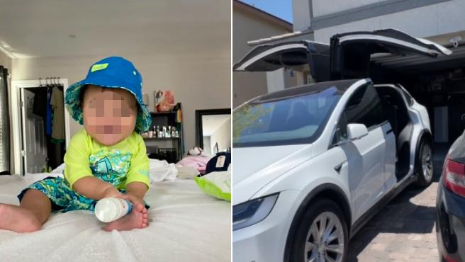 Jugando con un iPad, su bebé de 10 meses compró una cara actualización para su Tesla.