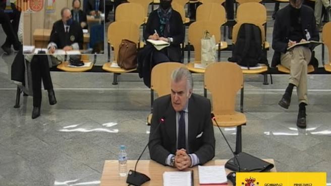 Luis Bárcenas declara en el juicio de la caja 'b' del PP en la Audiencia Nacional.