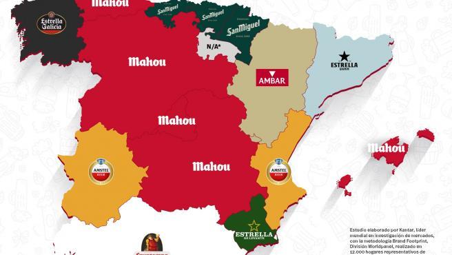 Mahou es la cerveza más elegida por los asturianos, según un estudio