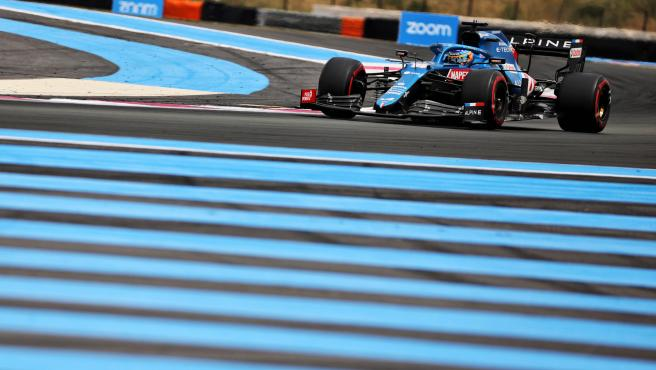 Fernando Alonso, in the F1 French GP