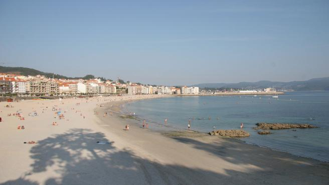 Playa de Sanxenxo, en Pontevedra.