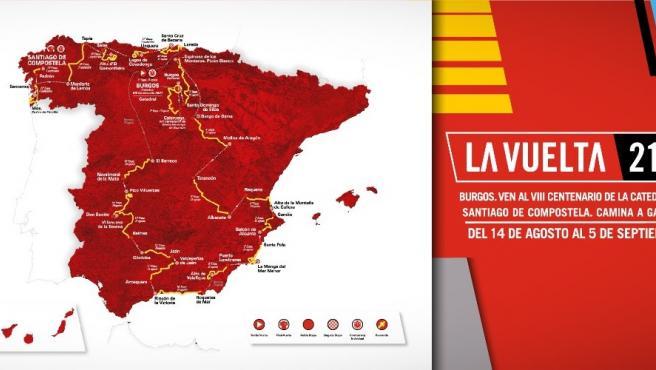 Recorrido de La Vuelta 2021.