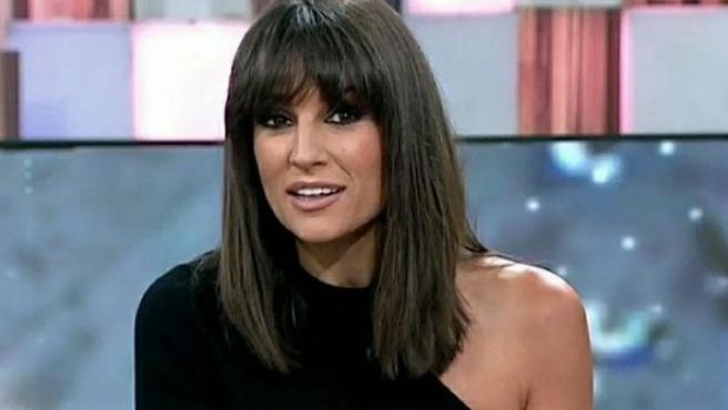 La presentadora Lorena García.