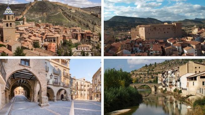 Montaje pueblos más bonitos de Teruel.