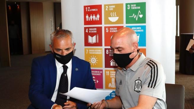 Real Federación Española de Fútbol y Cifal pondrán en marcha acciones para el desarrollo sostenible en deporte