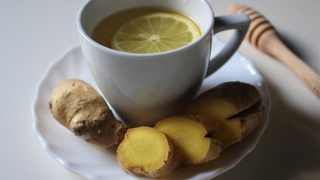 Infusión de jengibre con limón.