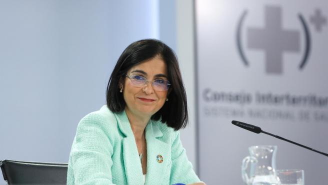 Carolina Darias, ministra de Sanidad, este miércoles.