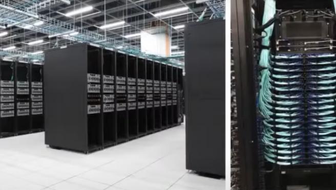 Karpathy enseñó imágenes del supercomputador en su conferencia.