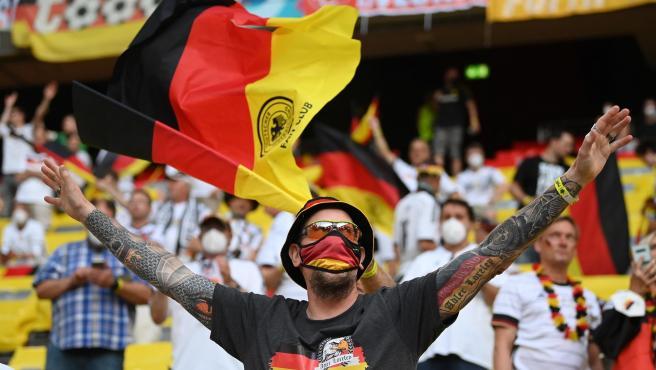 Aficionados alemanes en la Eurocopa.
