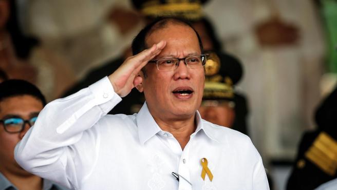 El entonces presidente de Filipinas Benigno Aquino, durante un desfile en Quezon City, al este de Manila, en 2016.