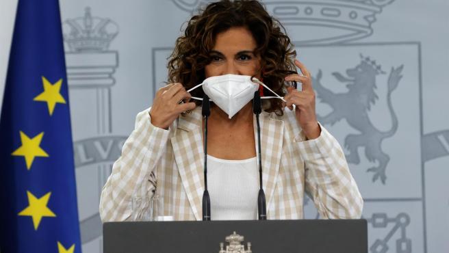 La portavoz del Gobierno y ministra de Hacienda, María Jesús Montero.