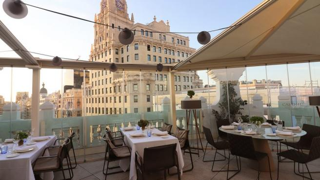 Picalagartos Sky Bar, un oasis gastronómico escondido en plena Gran Vía madrileña.