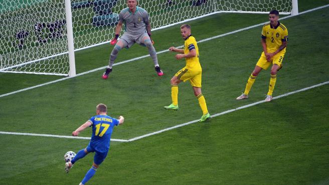 Ucrania elimina en tiempo extra a Suecia y avanza a los cuartos de final