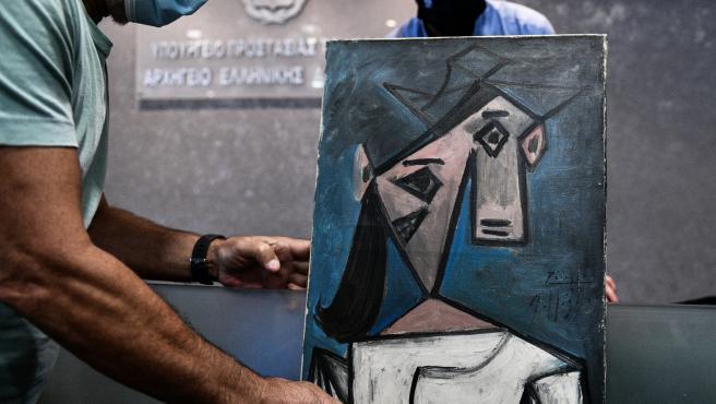 'Cabeza de mujer', el cuadro robado de Picasso, bajo la atención de la policía griega.