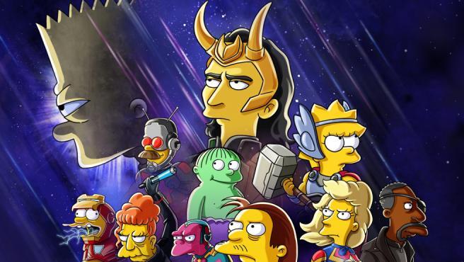 Detalle del póster de 'El bueno, el Bart y el Loki'
