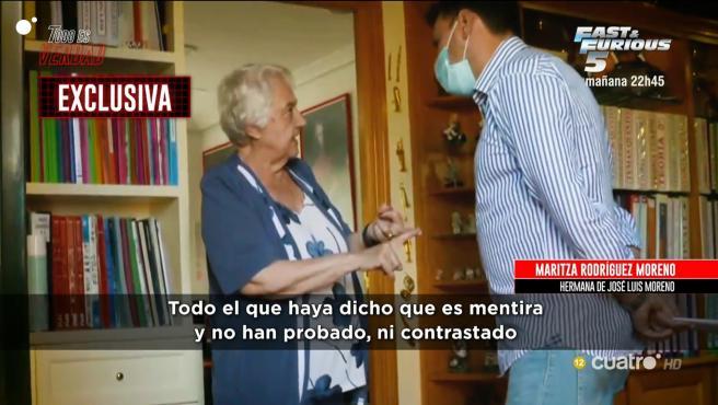 La hermana de José Luis Moreno habla en 'Todo es verdad'