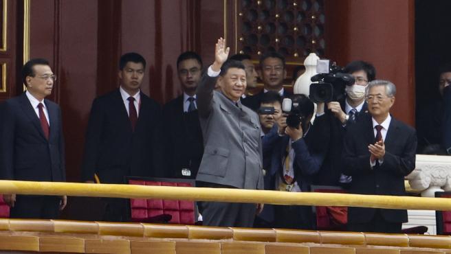 Los altos cargos del Partido Comunista chino, durante los actos de aniversario.