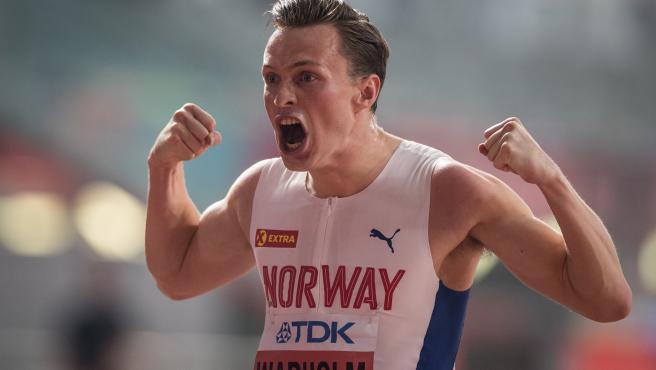 El atleta noruego Karsten Warholm