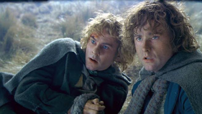 Merry (Dominic Monaghan) y Pippin (Billy Boyd)
