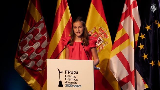 """Princesa Leonor destaca a Cataluña por su """"iniciativa, creatividad y emprendeduría"""""""