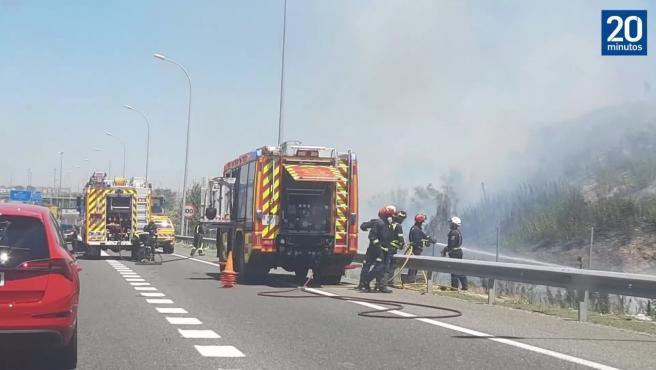 Accidente e incendio A3