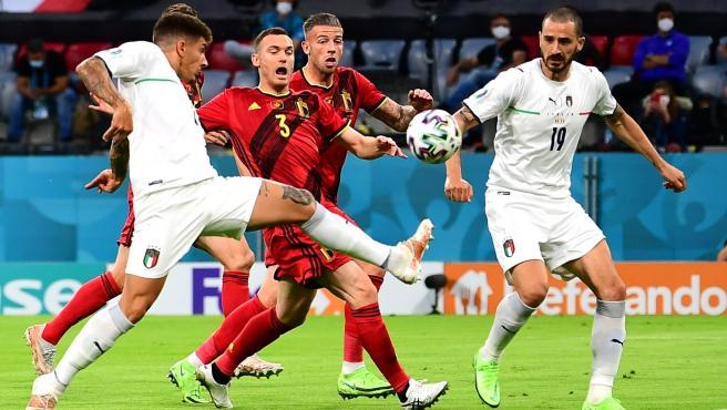 Partido de cuartos de final de la Eurocopa entre Bélgica e Italia
