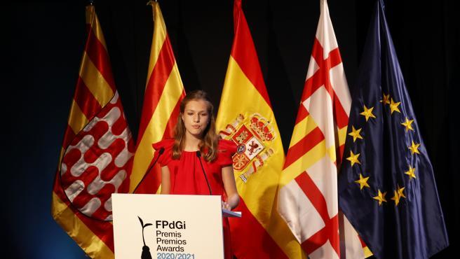 La princesa Leonor en los Premios Princesa de Girona.