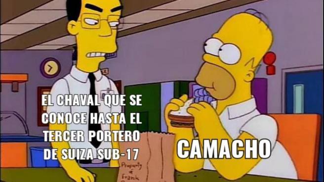 Meme sobre José Antonio Camacho en la Eurocopa
