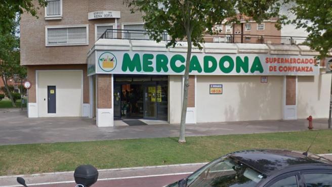 Imagen de la fachada de un supermercado de la cadena Mercadona.