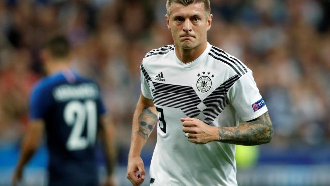 Kroos, con la selección alemana en la Eurocopa.