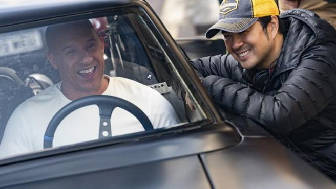 Vin Diesel con el director Justin Lin